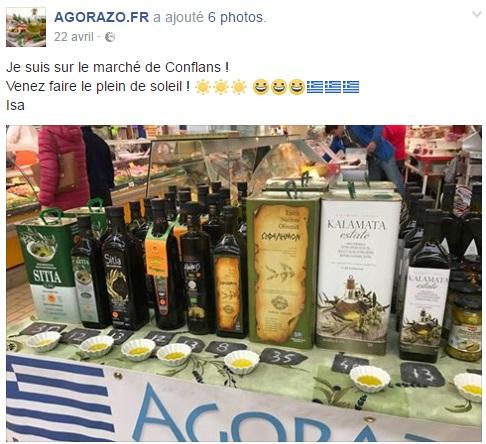 Facebook Agorazo marché de Conflans